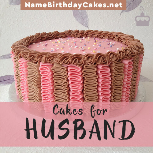 Birthday Cake Images For A Husband : Happy Birthday Cakes for Husband With Name