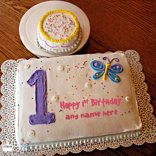 Write Name On Cake 1st Birthday With