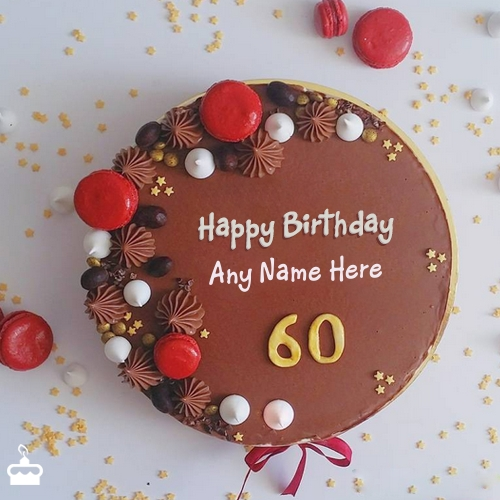 Write Name On Cake Amazing Decorated 60th Birthday Cakes With