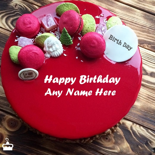 Write Name On Cake Amazing Red Velvet For Birthday Wishes With
