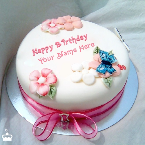 Birthday Cake Images With Name Tarun : Birthday Cake for Sister With Name