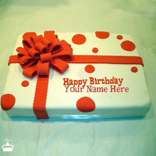 Birthday Cake Wrapped with Name