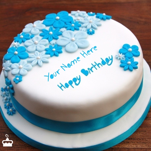 Write Name On Cake Birthday Ice Cream With