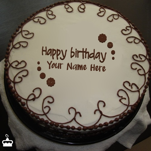 Write Name On Cake Border Chocolate With