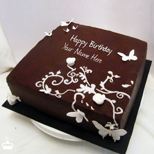 Write Name On Cake Butteryfly Chocolate Birthday With
