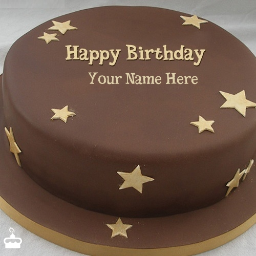 Chocolate Stars Cake With Name