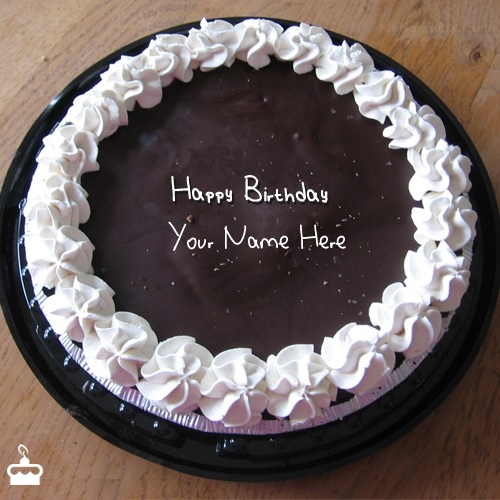 Fantastic Chocolate Icecream Birthday Cake With Name