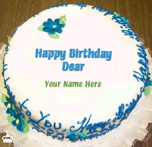 Write Name On Cake Happy Birthday Dear With