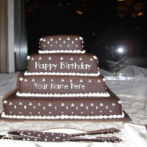 Happy Birthday Layered Cake With Name