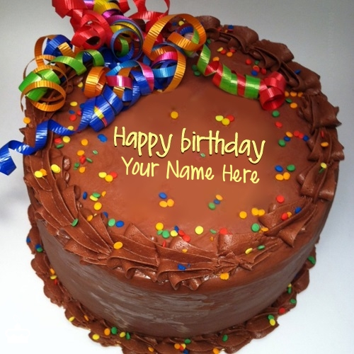 Write Name On Cake Party Birthday With