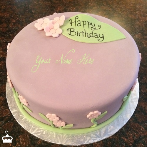 Pretty Birthday Cake With Name