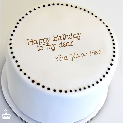 Simple Round Cake With Name