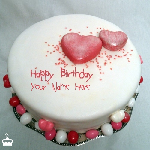 Cake Images With Name Mohan : Specialty Heart Birthday Cake With Name