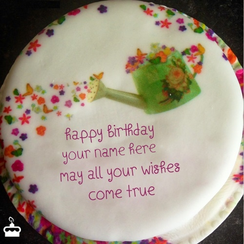 Wish Birthday Cake With Name