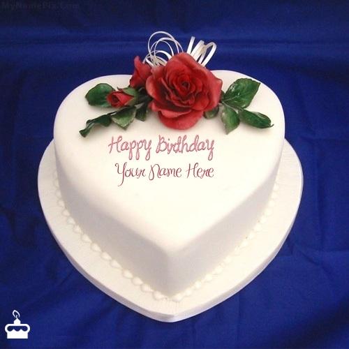 write name on cake heart icecream cake with name