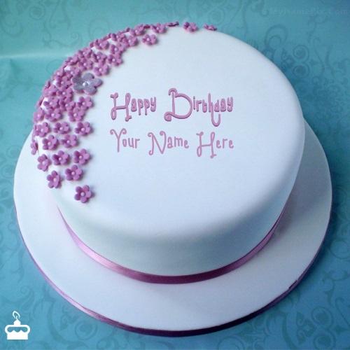 write name on cake ice cream birthday cake with name