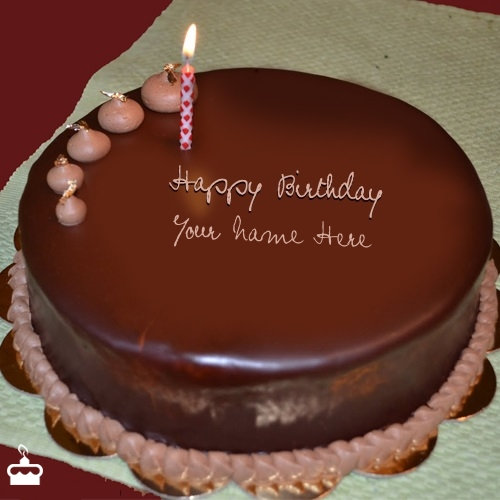 Happy Birthday Cakes For Husband Write Name On Cake Plain Chocolate With