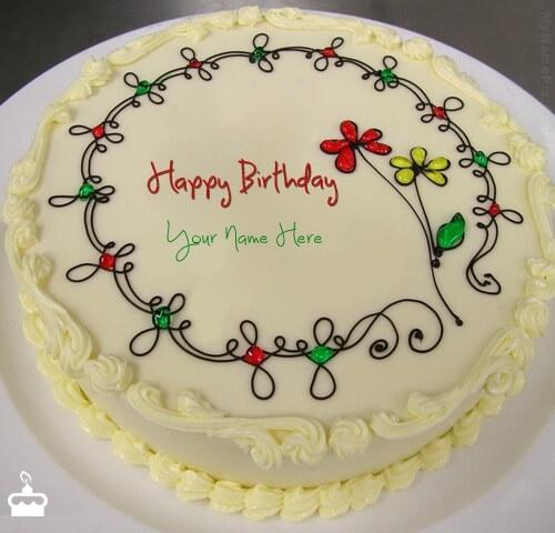 Write Name On Birthday Cake With